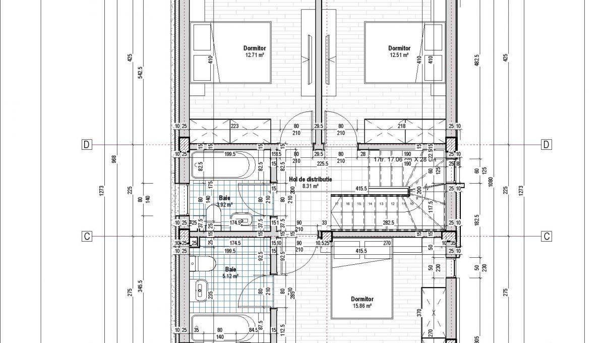 plan etaj_vila Tunari_Skylight_Click4home